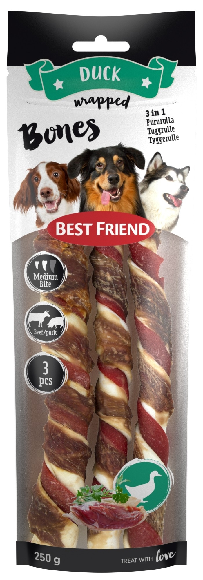 Best Friend Bones 250g 3 st medium